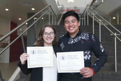 Julianna Cannon and Matthew Nguyen, both Phi Theta Kappa (PTK) students at Northwest Florida State College (NWFSC), were named Coca-Cola Academic Team Silver Scholars for 2020.